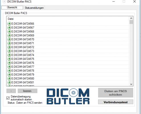 DICOM Butler PACS Datenübermittlung